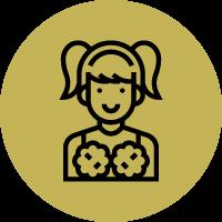 Cheeleader Icon round