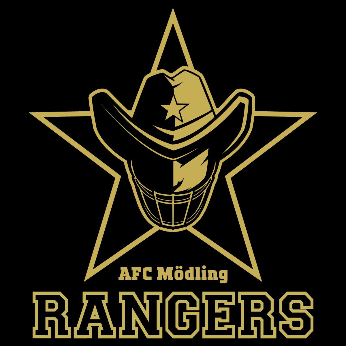 RANGERS Logo auf schwarz